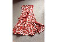 Strapless summer dress with tie waist, size 10