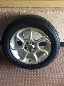 P225/50R15 All SEASON TIRES ON ALLOY RIMS