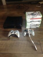 Xbox 360 with 14 games and 2 controllers