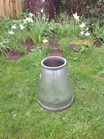 Aluminium milking bucket antique
