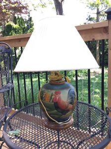 Rooster decor table lamp