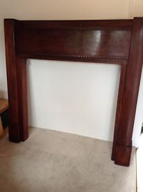 1930's Antique heavy wooden fireplace, removed from traditional house in Penarth