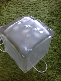 IKEA ice cube glass table lamp