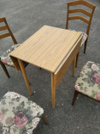Vintage Nathan dining chairs with Formica folding table
