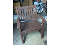 Director style wooden garden chair
