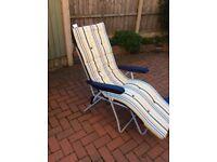 Pair of reclining garden chairs