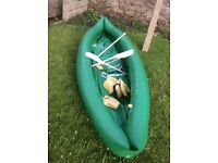 Large inflatable 2 man canoe