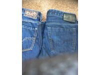 2 pair of diesel jeans