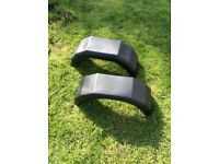 "10"" trailer mud guards NEW"