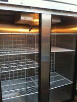 2 door stainless steel freezer