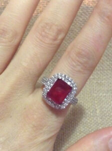 BEAUTIFUL 2.25 CT NATURAL CHERRY RUBY RING