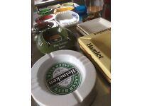 Collectable group of ashtrays pub memorabilia 13 babycham harp hamlet etc