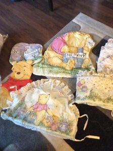 Winnie the Pooh Crib Set with Matching Wall Decorations Kitchener / Waterloo Kitchener Area image 1