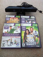 XBOX 360 slim, console,controller, kinect, and other accessories