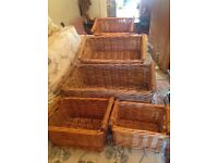 5 wicker hamper baskets