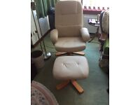 Leather massage chair, new, unused.
