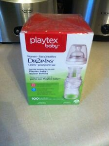 Playtex drop in bottles and inserts and good start formula