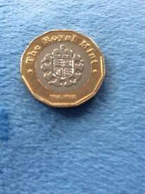 2015 Trial pound coin
