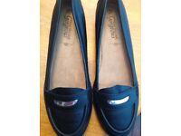 New Look black shoes leather shoes size 6