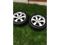 Peugeot 307 alloys with tyres
