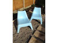 2 x IKEA garden chairs