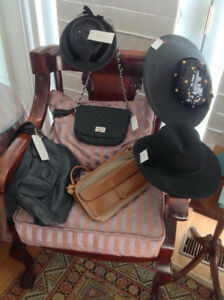 Vintage Lady Hats , purses and belts