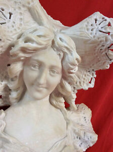 Antique Late 19th Century Fine Alabaster Bust Of Young Woman Peterborough Peterborough Area image 2