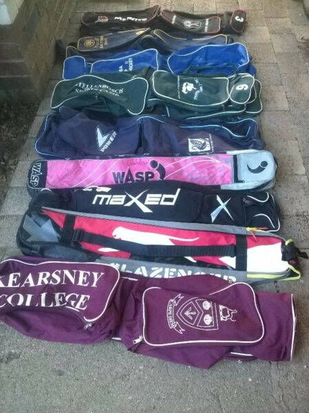 Hockey tog/ kit bags - from R40 to R90 each. Please see other ads for hockey sticks.