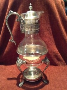 Vintage Silver Coffee Carafe with Warmer Stand