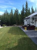 Beautiful lot at Coyote Creek (Sundre) backing onto trees