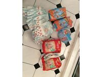 Various nappies, mainly in size 6