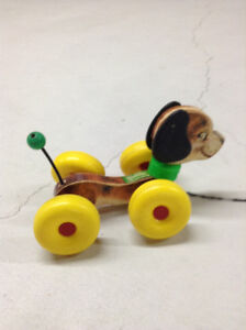 """Vintage """"Wobbles"""" Pull toy"""