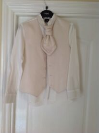 Waistcoat, cravat and shirt from Next age 12
