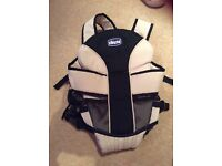 Chicco cream black baby Carrier front