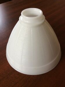 "Vintage Opal White Milk Glass 2 1/4"" x 8"" IES Reflector Shade"