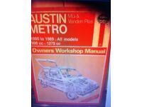 Haynes Manual, Austin Metro 80-89