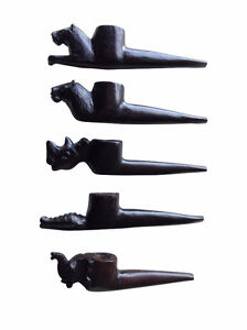 African Smoking Pipes - BEAUTIFUL Ebony - Hand Carved