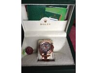 Rolex Rose Gold Daytona with White Face - Brand New