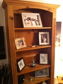 Bookcase or display cabinet solid pine