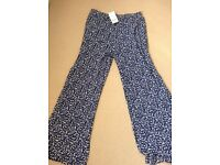 Ladies high-waisted wide leg pants