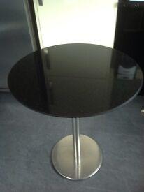 Black marble table