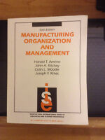 Manufacturing Organization and Management