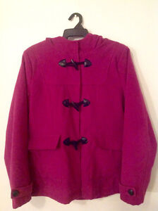 size 16 pink polyester coat with hood Kingston Kingston Area image 1