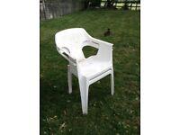 2 Plastic Garden Chairs