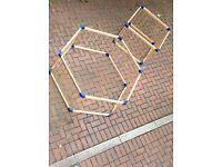 Play pen - playpen - natural timber hexagon / rectangle / square