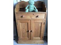 Solid pine unusual desk / chest of drawers / sideboard / dresser / cupboard furniture Sutton sm3