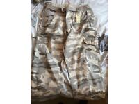 Camouflage cargo trousers men's 38