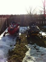 Skidoo and Arctic cat snowmobile package