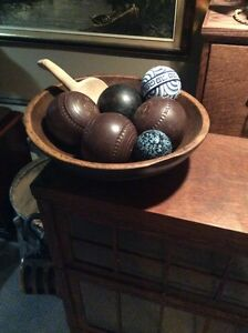 Antique butter bowl and balls