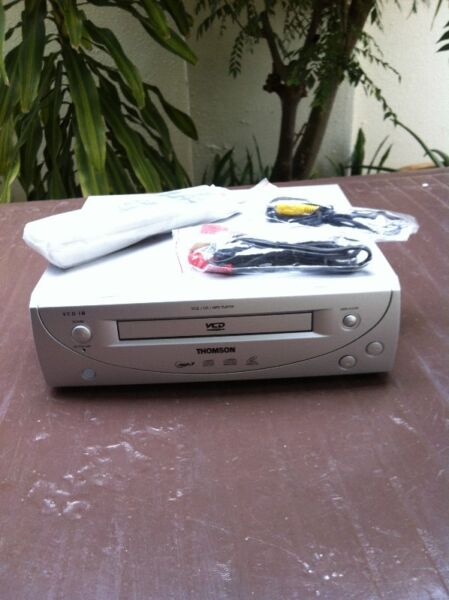 Thomson V18 VCD, CD and MP3 player. In excellent condition. Come with remote and cables.
